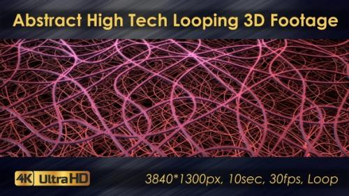 Videohive - Abstract High Tech Looping 3D Footage - 33225779 - 33225779