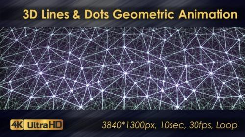 Videohive - 3D Symmetrical Lines And Dots Geometric Animation - 33225780 - 33225780