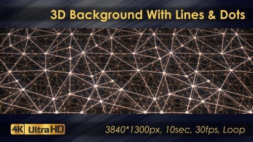 Videohive - 3D Polygon Background With Lines And Dots - 33225781 - 33225781