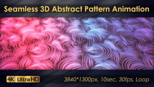 Videohive - Seamless 3D Abstract Pattern Animation - 33225782 - 33225782