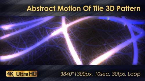 Videohive - Abstract Motion Of Tile 3D Pattern - 33225783 - 33225783
