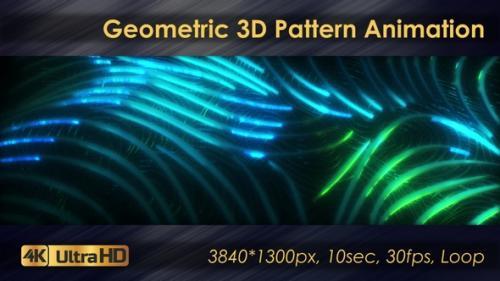 Videohive - Seamless Geometric 3D Pattern Animation - 33225784 - 33225784