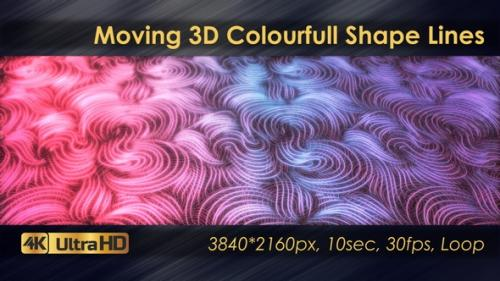 Videohive - Moving 3D Colourfull Shape Lines Animation - 33225786 - 33225786