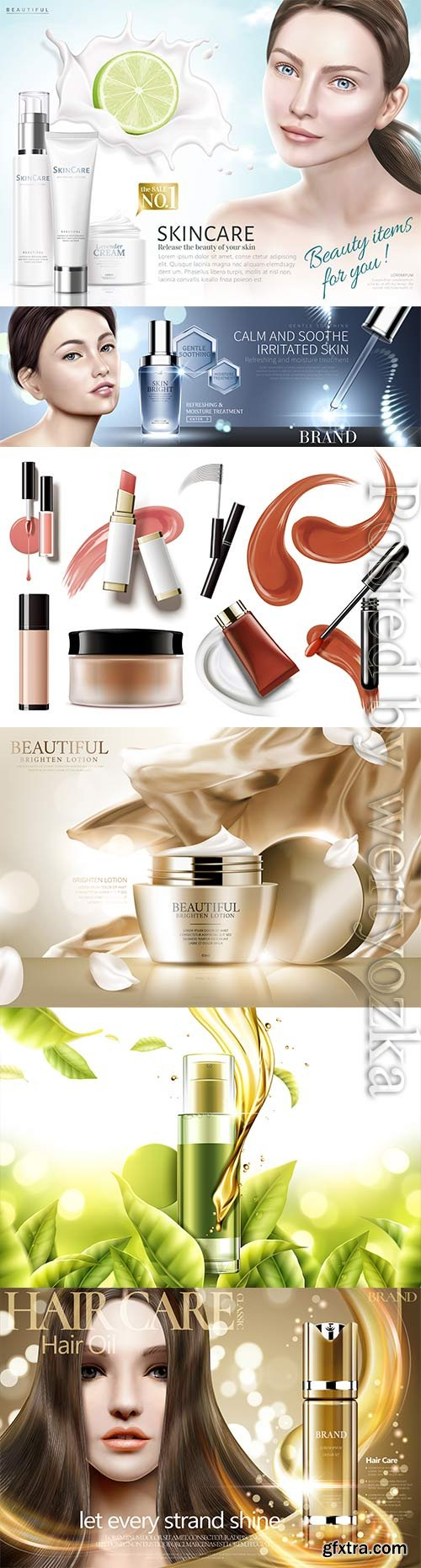 Elegant skin care vector template