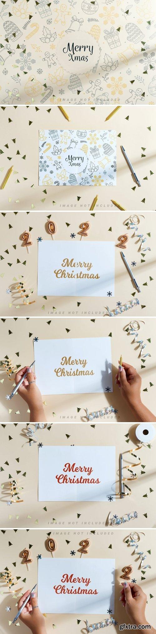 Christmas beige Mockup