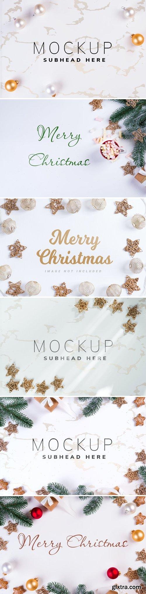Christmas background mockup