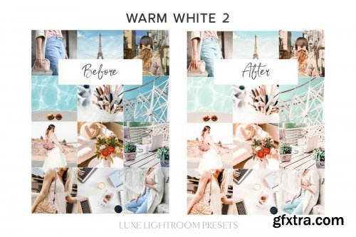 CreativeMarket - 7 WARM WHITE Lightroom Mobile Preset 4247228