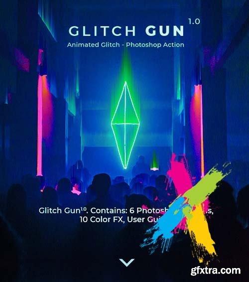 GraphicRiver - Glitch Gun - Animated Photoshop Action 24641366