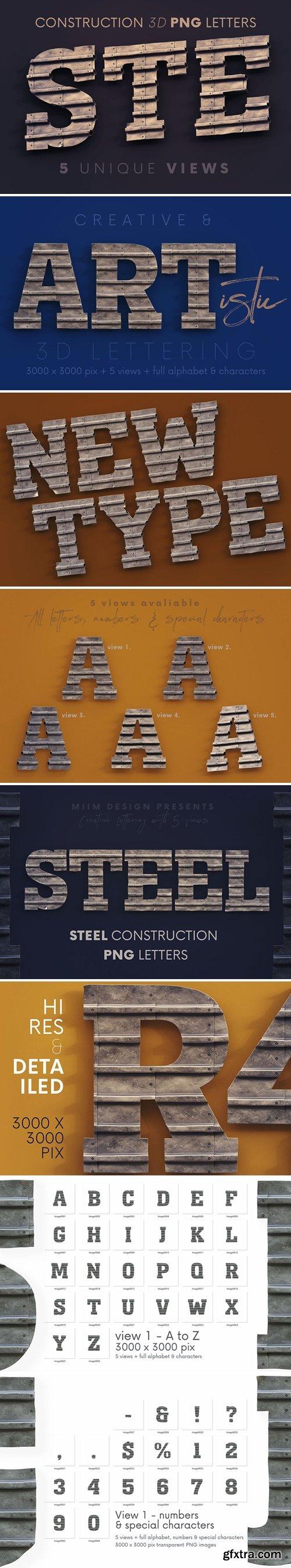 Steel Construct - 3D Lettering