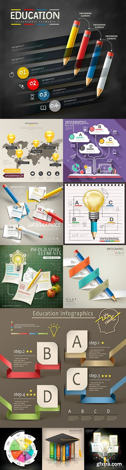 Business infographics options elements collection 162