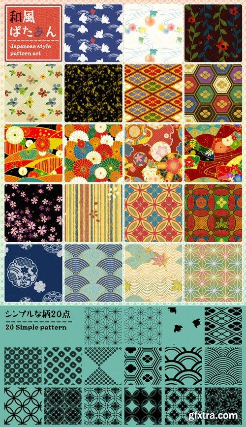 Japanese Style Patterns Set for Photoshop