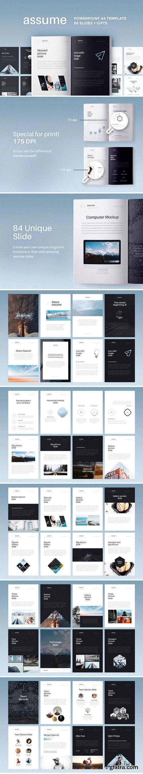 CM - A4 | Assume PowerPoint Template 1425782