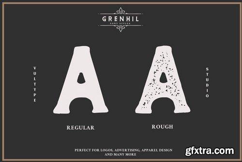 CM - Grenhil - Handmade Vintage Font 5281624