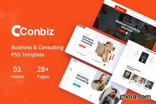 Conbiz - Consultancy & Business PSD Template