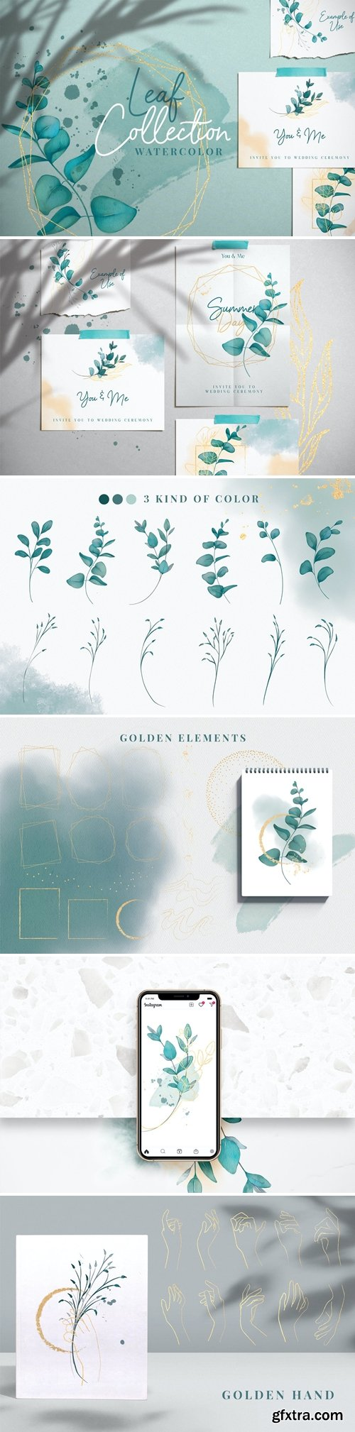 Leaf & Watercolor collection