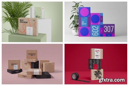 CreativeMarket - Box Mockup Bundle - Mailing Box 6264133