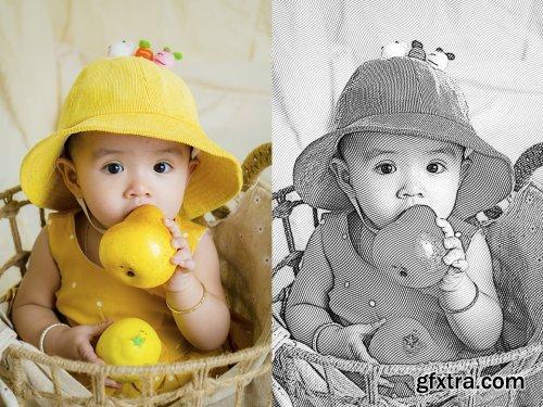 CreativeMarket - Black and White Photoshop Action 6033870