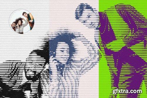 CreativeMarket - Halftone Photoshop Action 6110021
