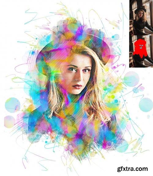 CreativeMarket - Dual Art Photoshop Action 6018671