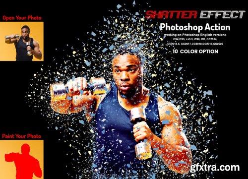 CreativeMarket - Shatter Effect Photoshop Action 5933981