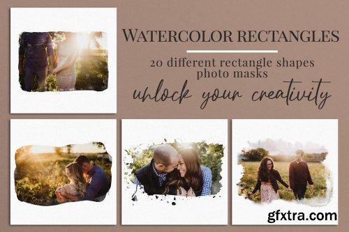 CreativeMarket - Watercolor rectangles photo masks 5924332