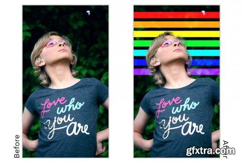CreativeMarket - Rainbow Overlays 6216550