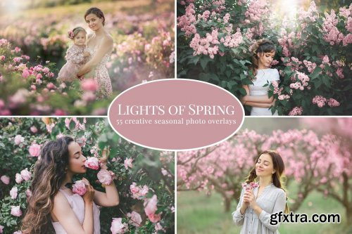 CreativeMarket - Lights of Spring photo overlays 5879066