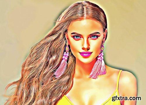 CreativeMarket - Beautiful Oil Paint Photoshop Action 5770685