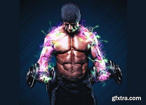 CreativeMarket - Electric Power Photoshop Action 5960125