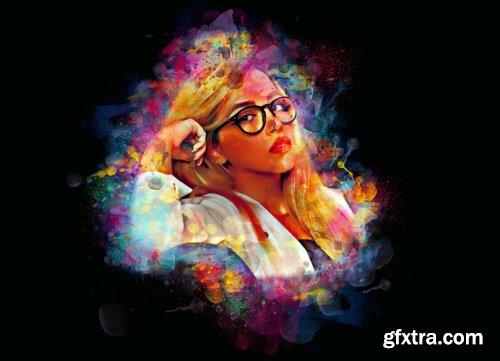 CreativeMarket - Color Splatter Photoshop Action 5976636