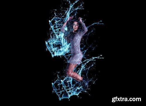CreativeMarket - Water Splash Photoshop Action 5964508