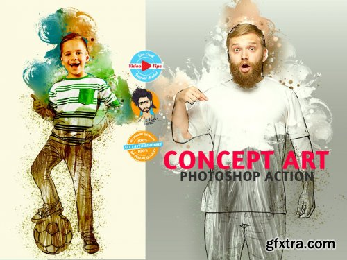 CreativeMarket - Concept Art Photoshop Action 6273516