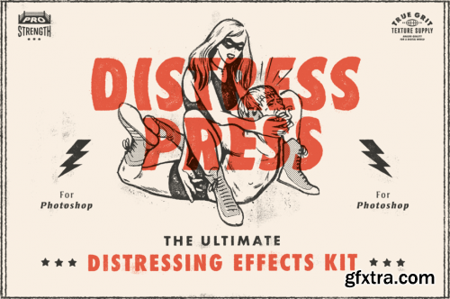 True Grit Texture Supply - Distress Press V1.3 for Photoshop
