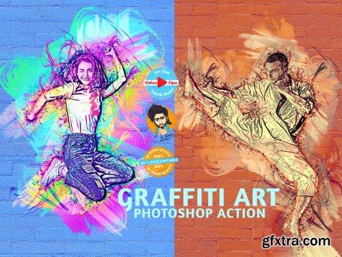 CreativeMarket - Graffiti Art Photoshop Action 6255730