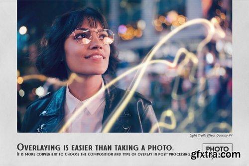 CreativeMarket - Light Trails Overlays Effect 6295465