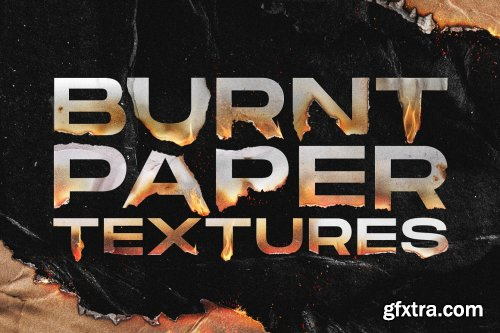 CreativeMarket - Torn and burned paper textures 6129557