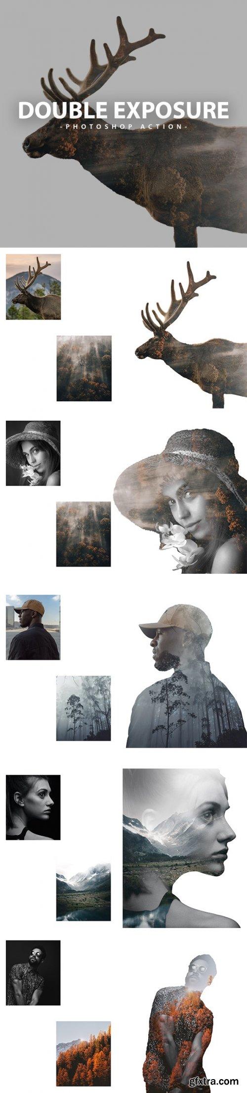 GraphicRiver - Double Exposure Photoshop Action 32912086