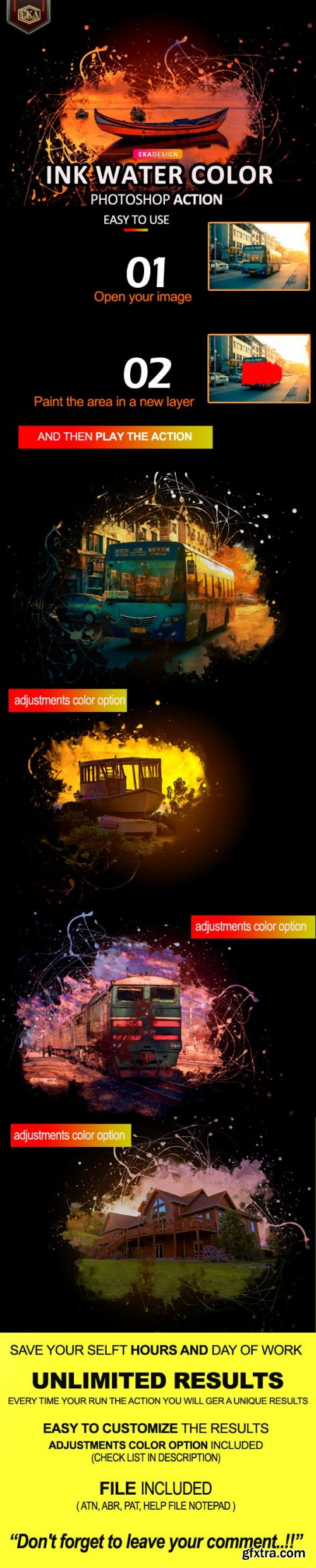 GraphicRiver - Ink Water Color Photoshop Action 32601243