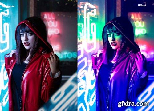 CreativeMarket - Cyberpunk Color Effect PS Action 5542764