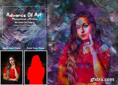 CreativeMarket - Advance Oil Art Photoshop Action 5362565