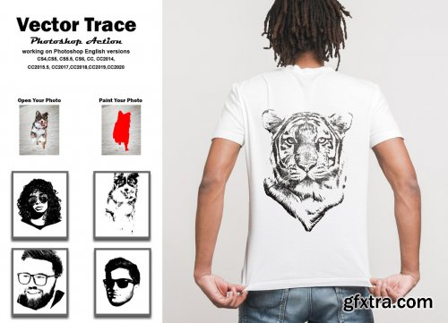 CreativeMarket - Vector Trace Photoshop Action 5500423
