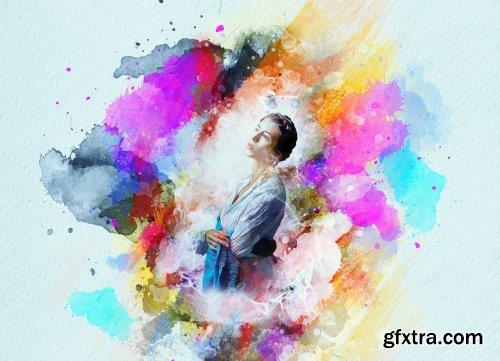 CreativeMarket - Watercolor Artistic Photoshop Action 5590766
