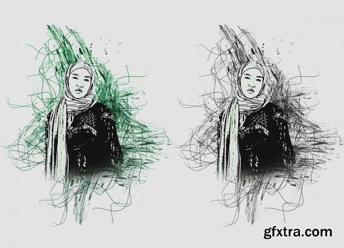 CreativeMarket - Vector Sketch Effect PS Action 5661409