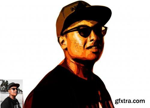 CreativeMarket - Pop Art Portrait Photoshop Action 5682222