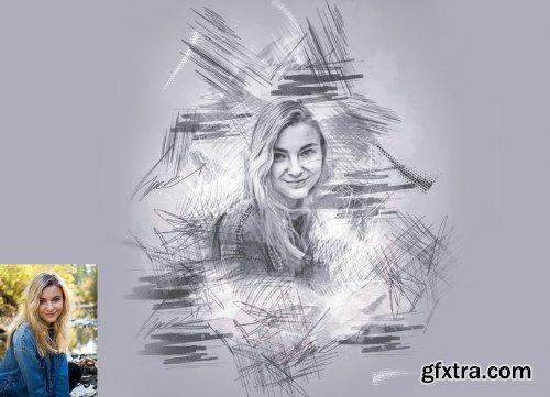 CreativeMarket - Quick Pencil Sketch Photoshop Action 5997318