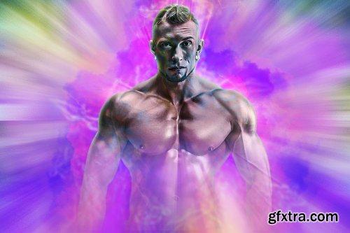 CreativeMarket - Radial Explosion Photoshop FX 6189302