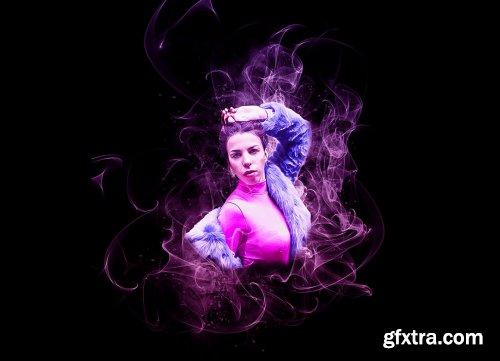 CreativeMarket - Realistic Smoke Photoshop Action 6188637