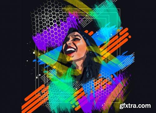 CreativeMarket - Vector Mixed Art Photoshop Action 6169990