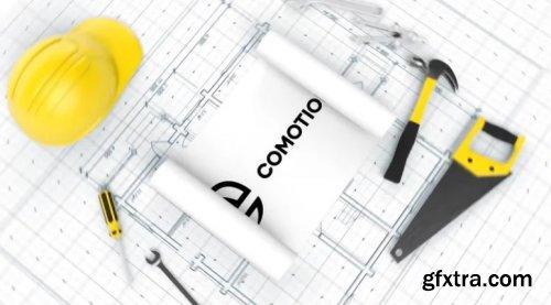 Construction Blueprint Logo 962400