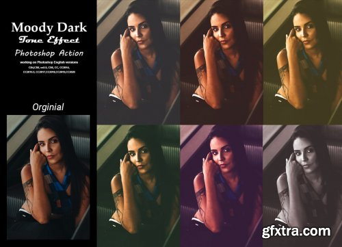 CreativeMarket - Moody Dark Tone Effect PS Action 5385550